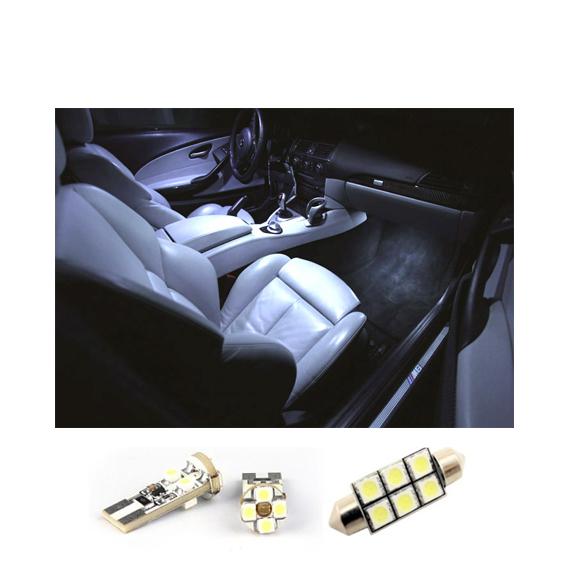 WHITE CANBUS ERROR FREE INTERIOR CAR LED LIGHT BULBS KIT White