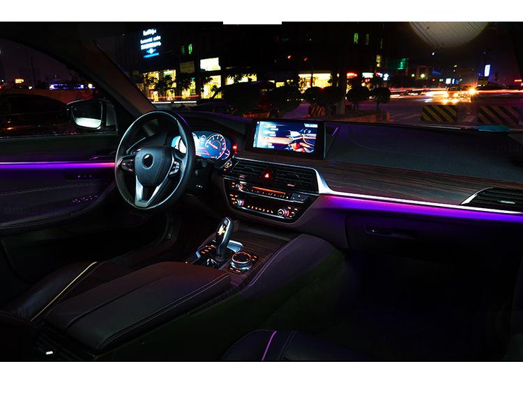 Bluetooth Car Ambient Light LED Light Interior Kit Optical fiber Door Light - Dabhees LED